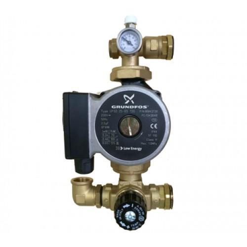 BARBERI Комплект для насосной группы с термостатическим клапаном; Grundfos UPSO 25-65 130